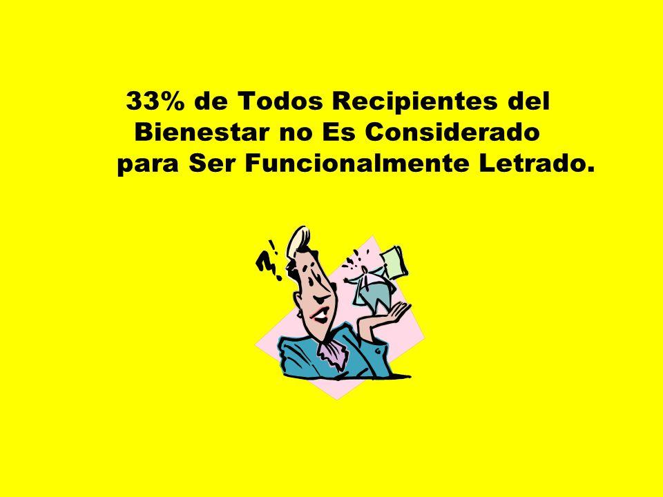 50% del Crónicamente Parado no Es Funcionalmente Letrado.