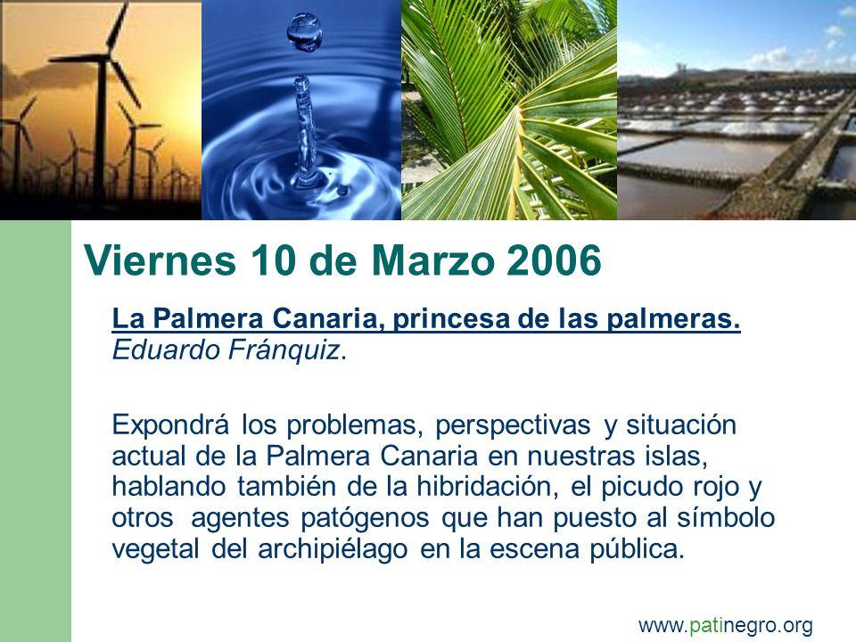 Viernes 17 de Marzo 2006 El Proyecto de Desarrollo Sostenible de la Mancomunidad del Sureste.