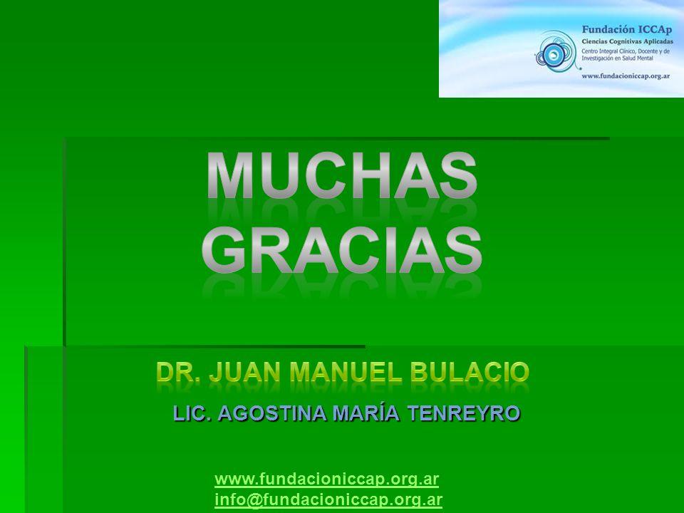 www.fundacioniccap.org.ar info@fundacioniccap.org.ar LIC. AGOSTINA MARÍA TENREYRO