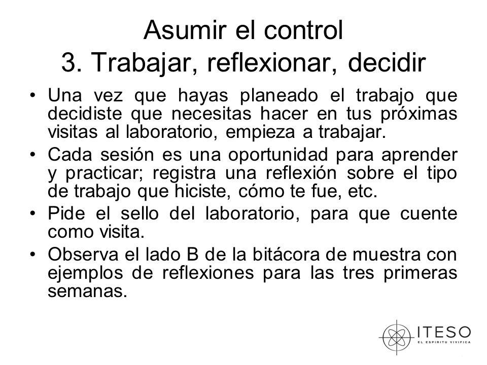 Asumir el control 3.