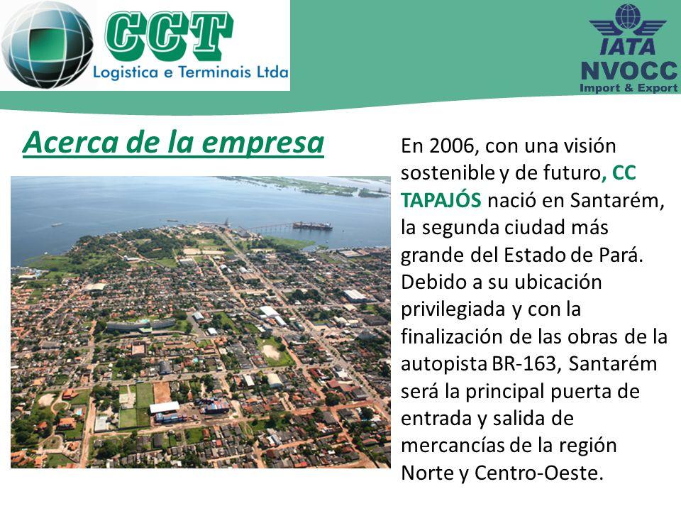 En 2006, con una visión sostenible y de futuro, CC TAPAJÓS nació en Santarém, la segunda ciudad más grande del Estado de Pará. Debido a su ubicación p