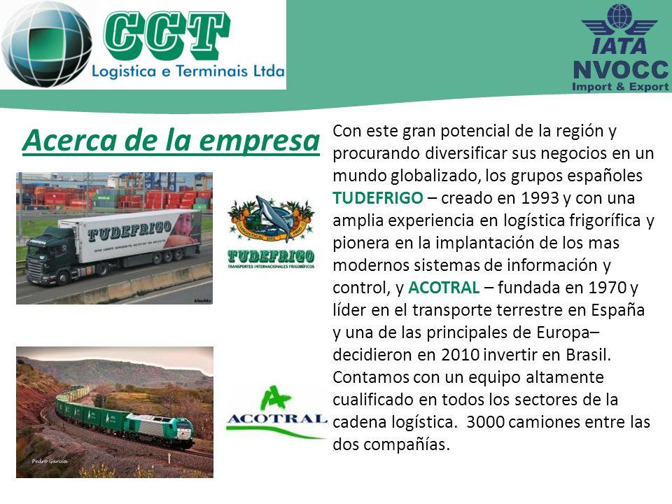 Con este gran potencial de la región y procurando diversificar sus negocios en un mundo globalizado, los grupos españoles TUDEFRIGO – creado en 1993 y