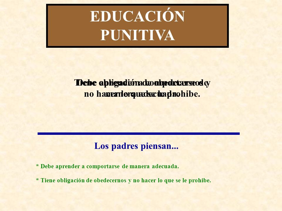 EDUCACIÓN INHIBICIONISTA CONSECUENCIAS PARA EL NIÑO/A: * Si tiene la oportunidad de adquirir habilidades adecuadas, desarrolla un concepto de sí mismo/a positivo.