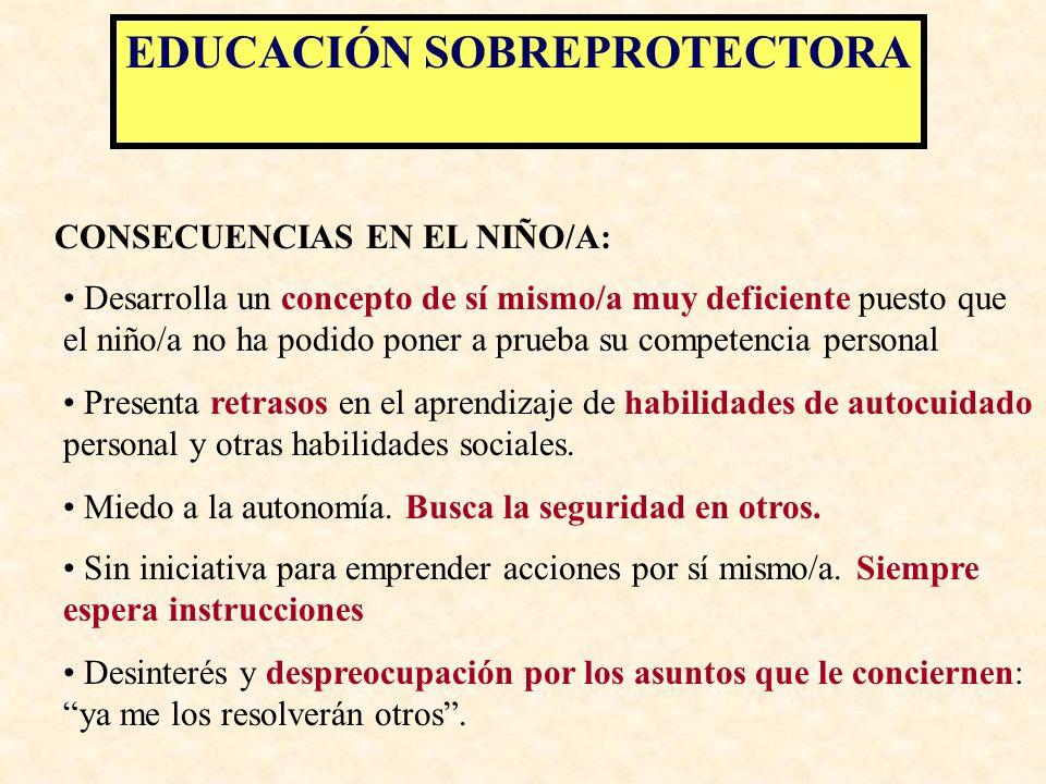 EDUCACIÓN SOBREPROTECTORA FUNDAMENTO: HIPERRESPONSABILIDAD Y CULPABILIZACIÓN
