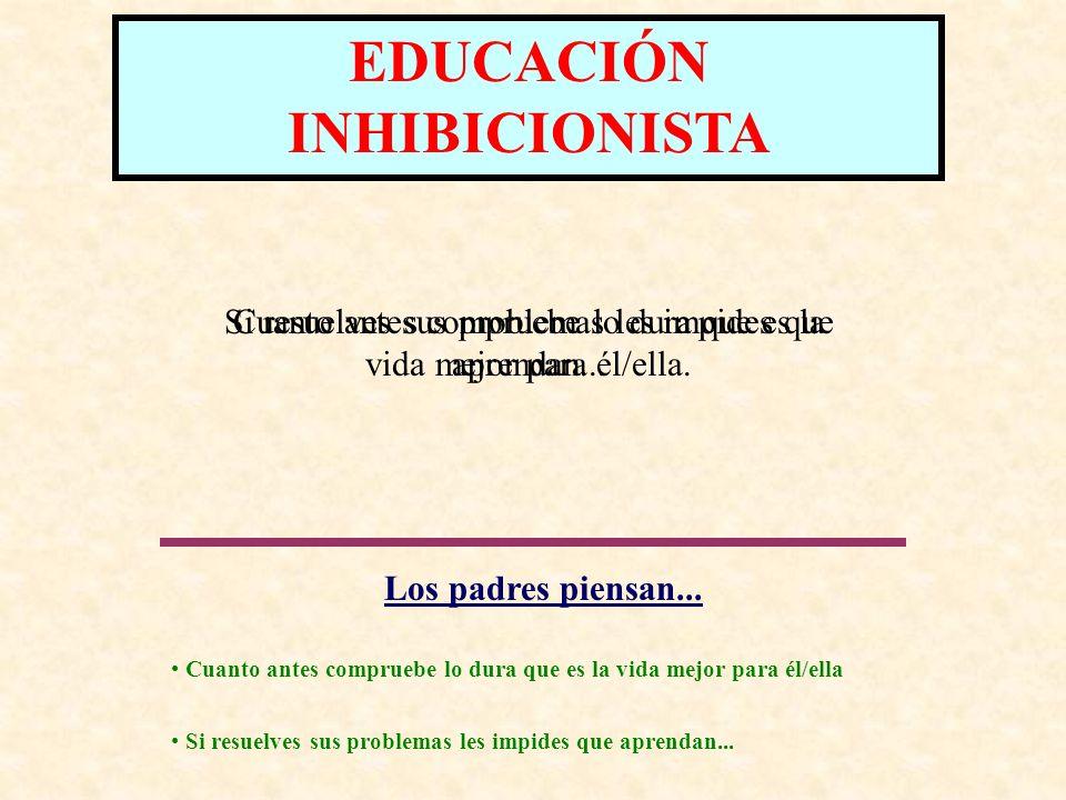 EDUCACIÓN PUNITIVA CONSECUENCIAS PARA EL NIÑO/A: Desarrolla un concepto de si mismo/a negativo, pues sólo recibe críticas a su persona relacionadas con su conducta.