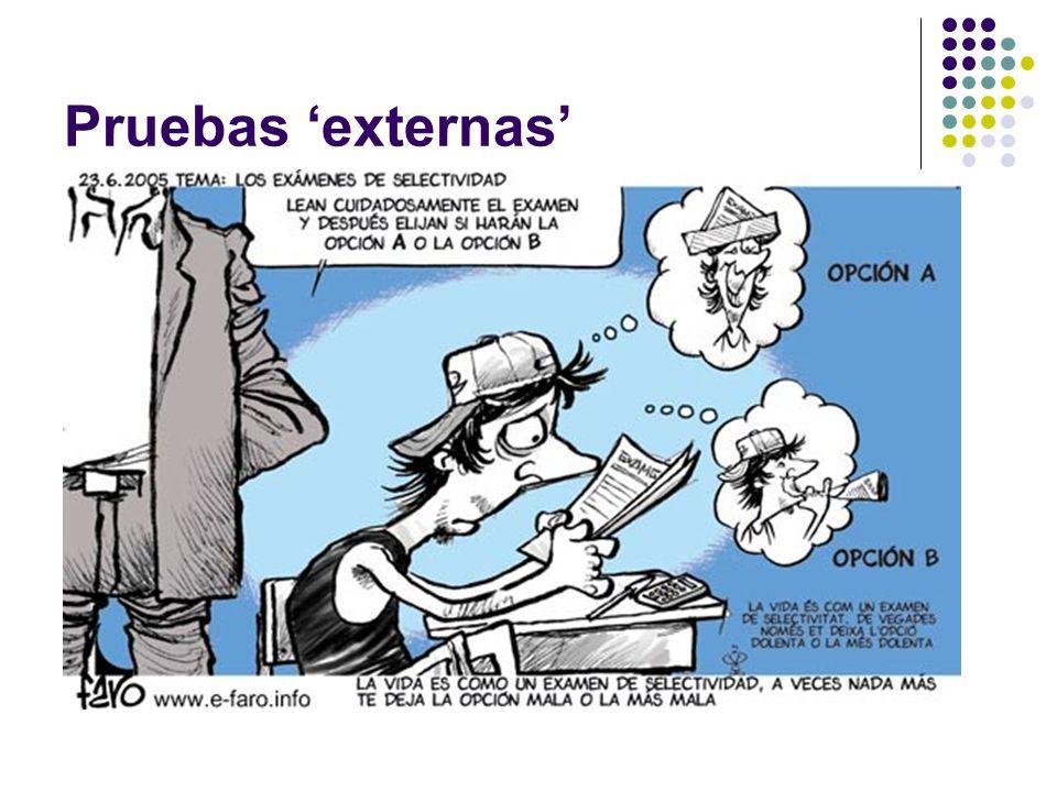 Pruebas externas