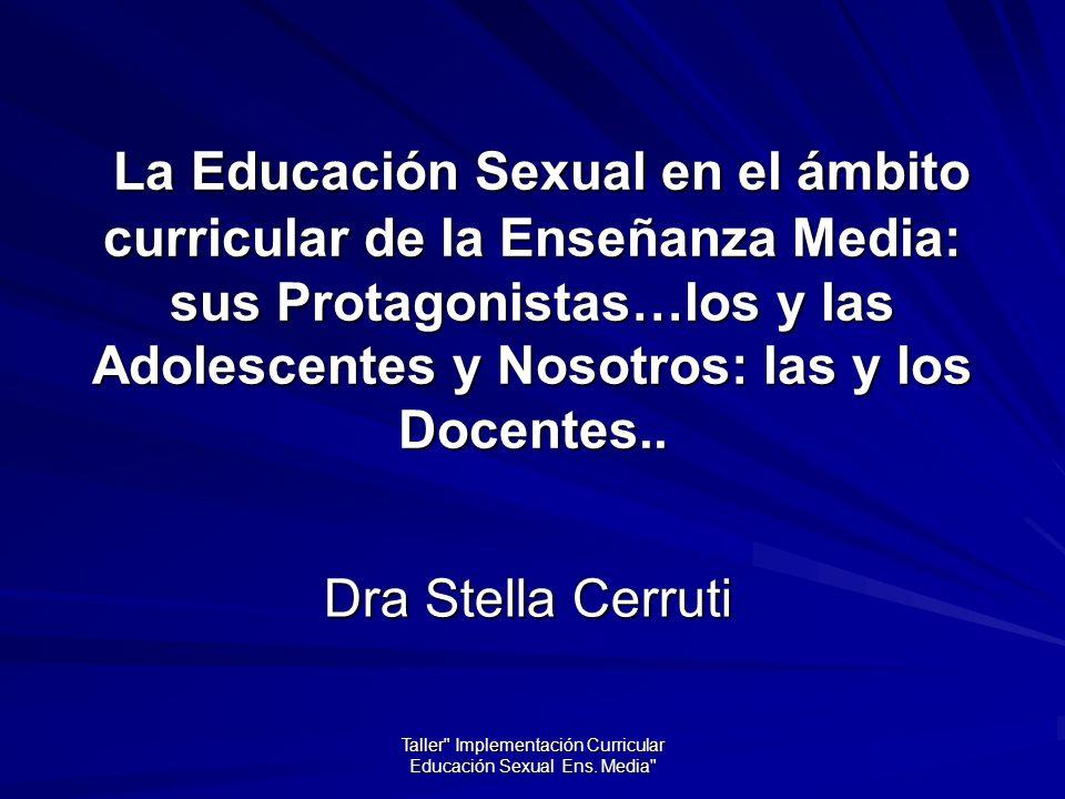 Taller Implementación Curricular Educación Sexual Ens.