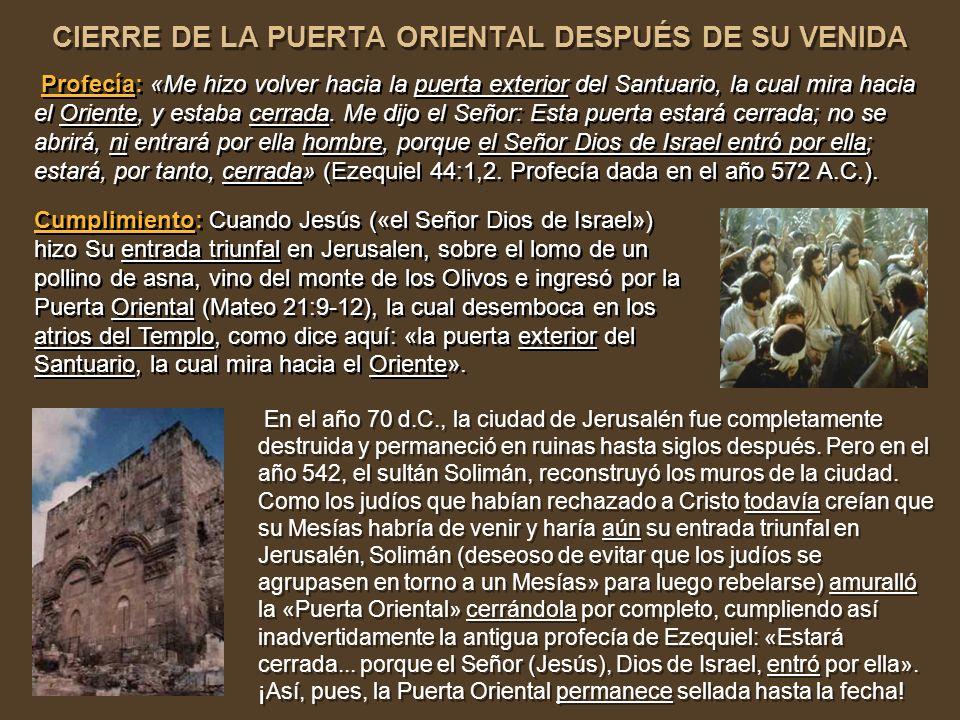 DESTRUCCIÓN DE JERUSALÉN DESPUÉS DE SU VENIDA DESTRUCCIÓN DE JERUSALÉN DESPUÉS DE SU VENIDA Profecía: «Y después de las 62 hebdómadas se quitará la vi