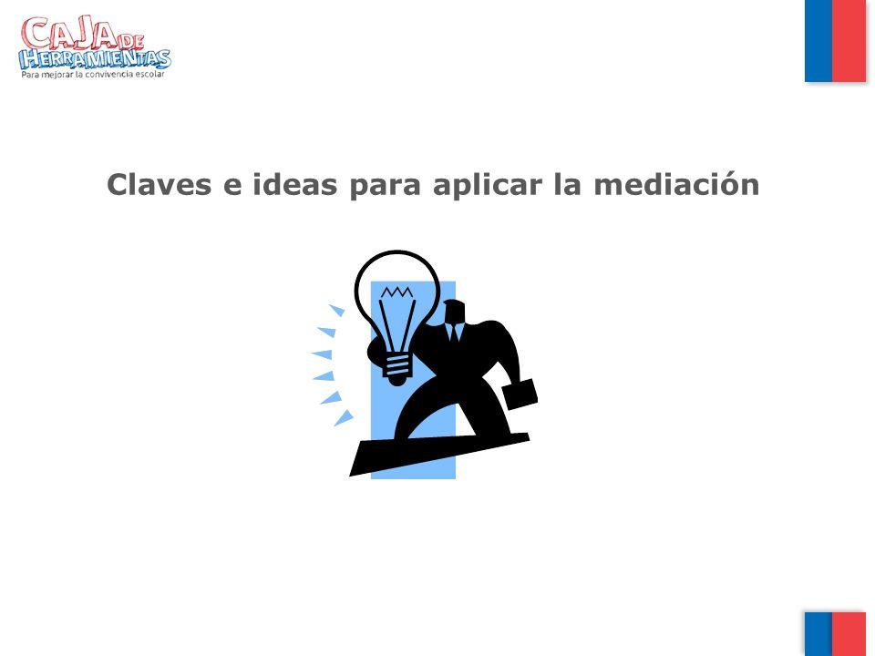 Claves e ideas para aplicar la mediación