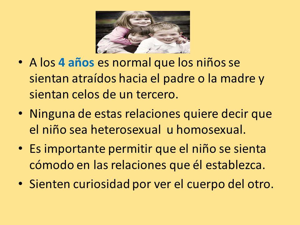 A los 4 años es normal que los niños se sientan atraídos hacia el padre o la madre y sientan celos de un tercero. Ninguna de estas relaciones quiere d