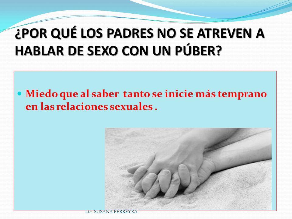 Consecuencias de una educación sexual inadecuada Violencia de género Violencia de género Lic. SUSANA FERREYRA