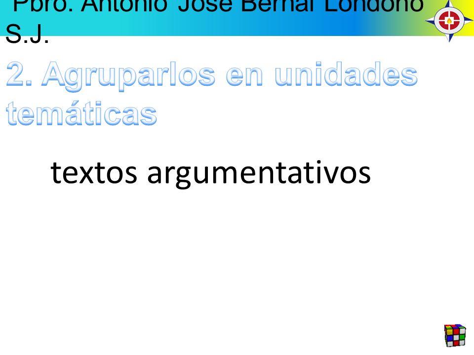 textos argumentativos Pbro. Antonio José Bernal Londoño S.J.