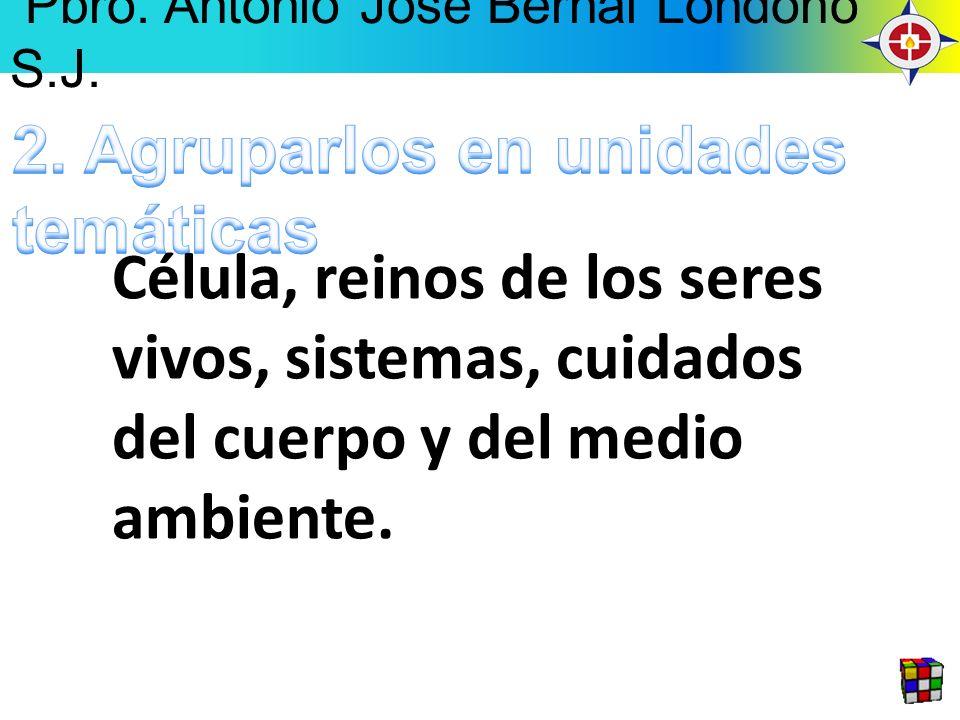 Célula, reinos de los seres vivos, sistemas, cuidados del cuerpo y del medio ambiente. Pbro. Antonio José Bernal Londoño S.J.