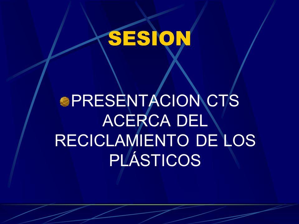 SESION PRESENTACION CTS ACERCA DEL RECICLAMIENTO DE LOS PLÁSTICOS