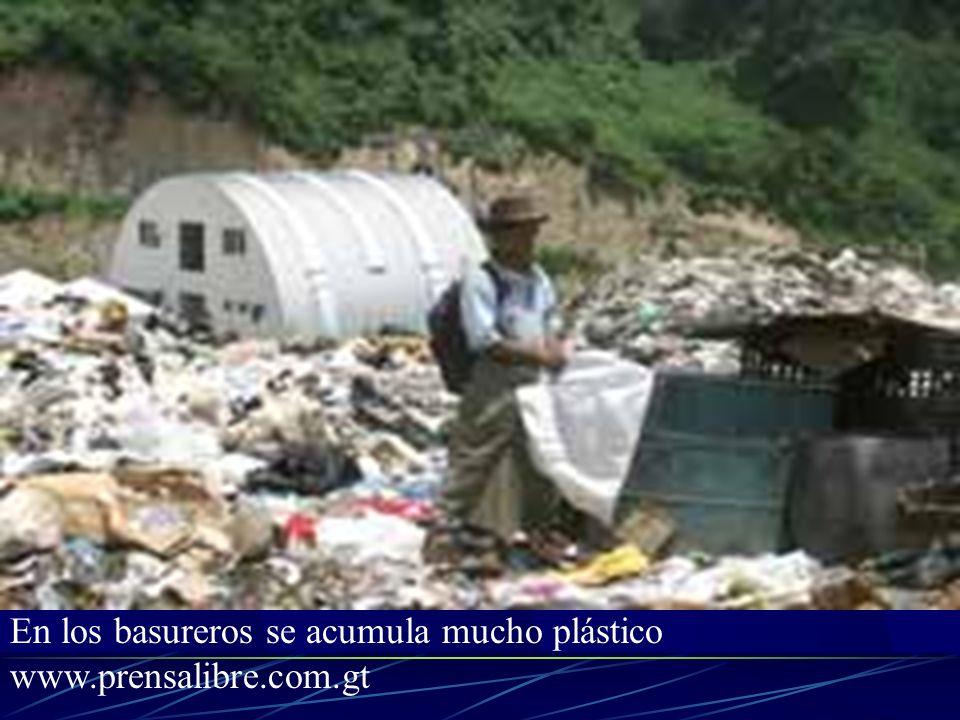 En los basureros se acumula mucho plástico www.prensalibre.com.gt