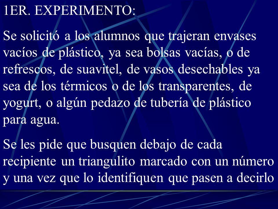 PARTICIPACIÓN PORCENTUAL DE CADA TIPO DE PLÁSTICO FUENTE : QUIMICA ANDONI GARRITZ Y J.A.