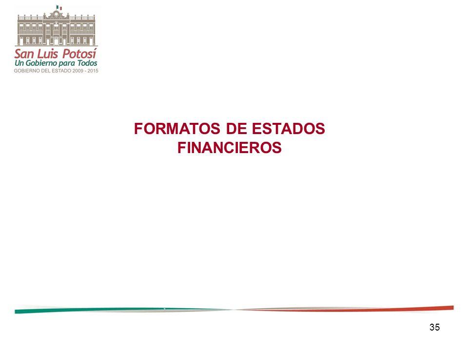 35 FORMATOS DE ESTADOS FINANCIEROS