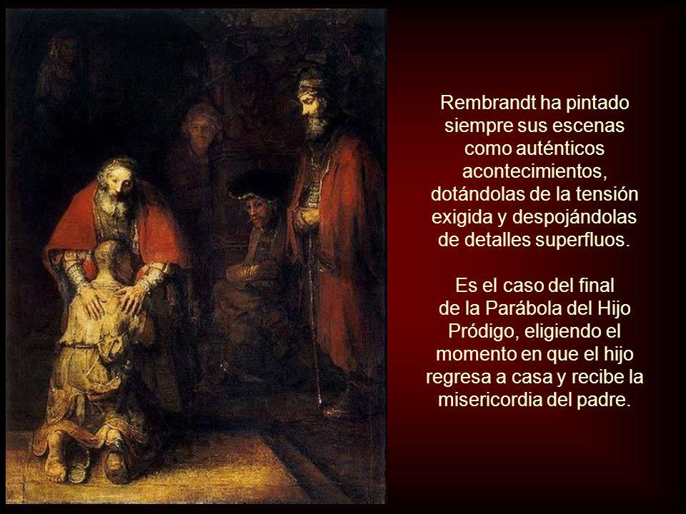 Se trata de un tema religioso extraído de las Sagradas Escrituras. (Lucas 15: 11-32). Este lienzo es la representación pictórica de la parábola evangé