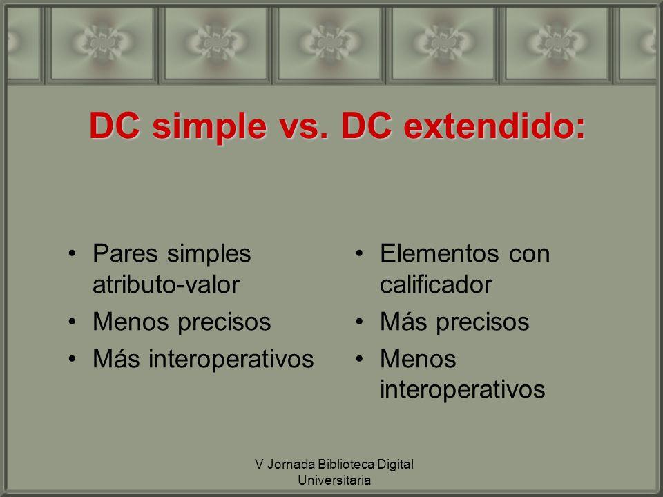 DC simple vs.