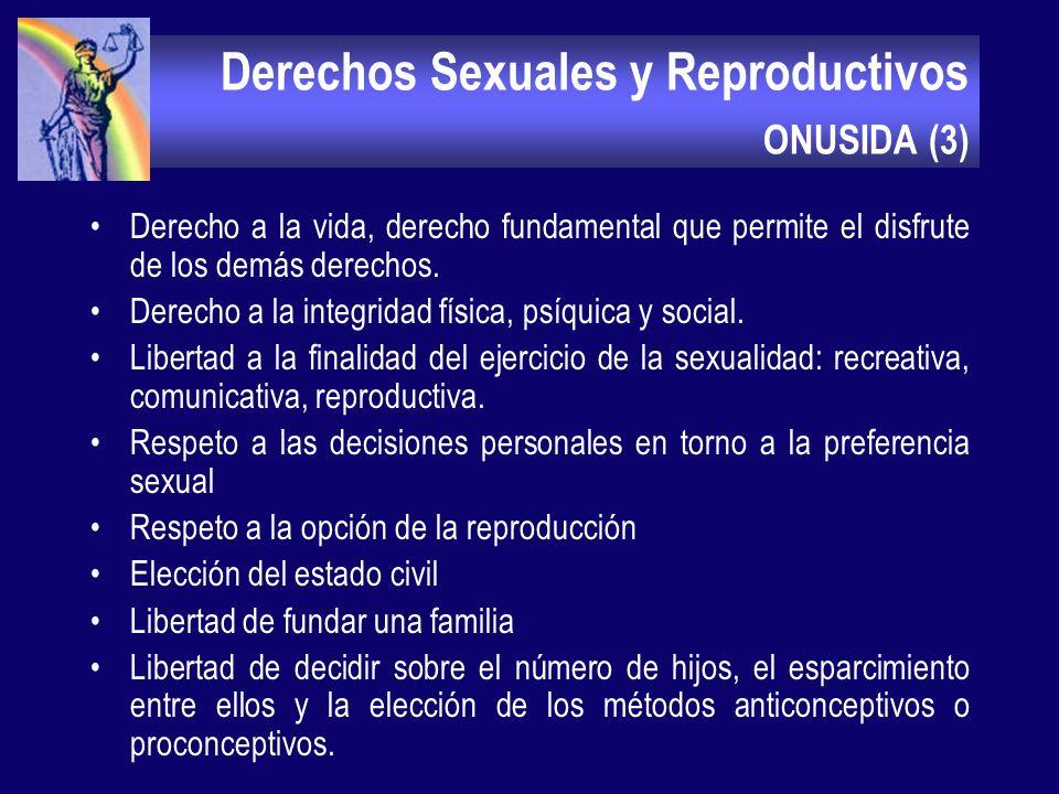 Derechos Sexuales y Reproductivos ONUSIDA (2) La aparición de la infección por VIH y el SIDA condujo a modificaciones importantes en todos los campos