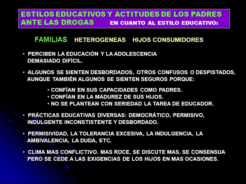 PERCIBEN LA EDUCACIÓN Y LA ADOLESCENCIA DEMASIADO DIFÍCIL. ALGUNOS SE SIENTEN DESBORDADOS, OTROS CONFUSOS O DESPISTADOS, AUNQUE TAMBIÉN ALGUNOS SE SIE