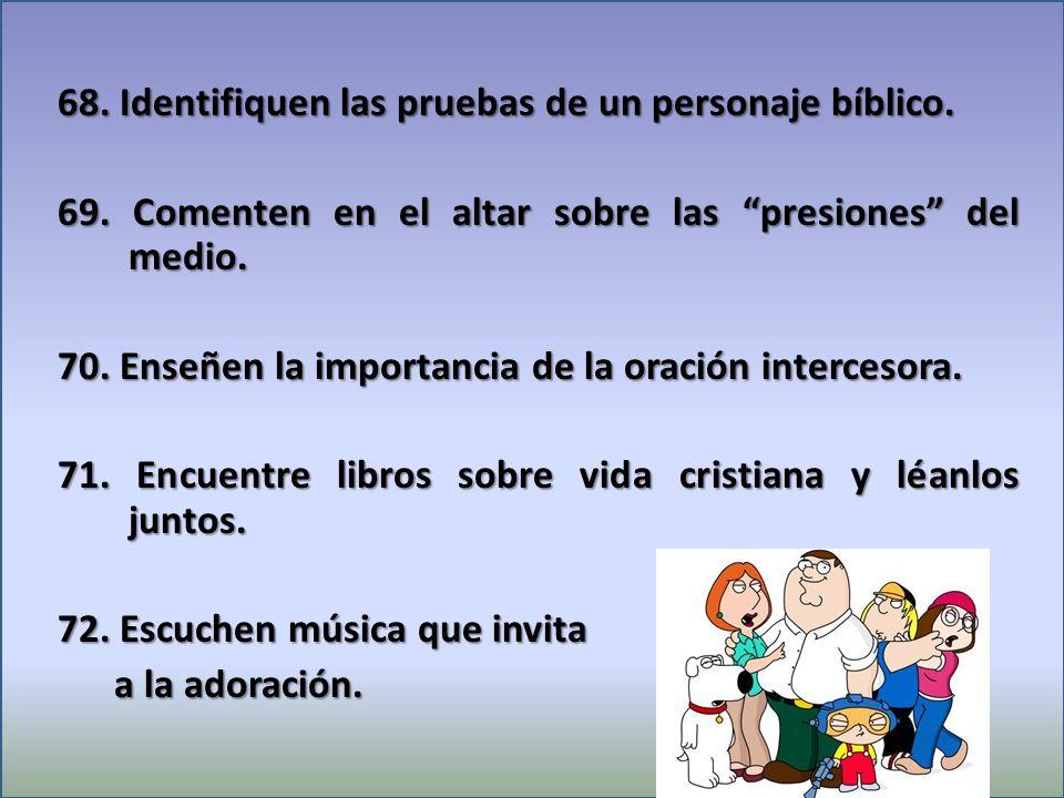 68.Identifiquen las pruebas de un personaje bíblico.