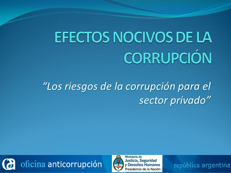 Los riesgos de la corrupción para el sector privado