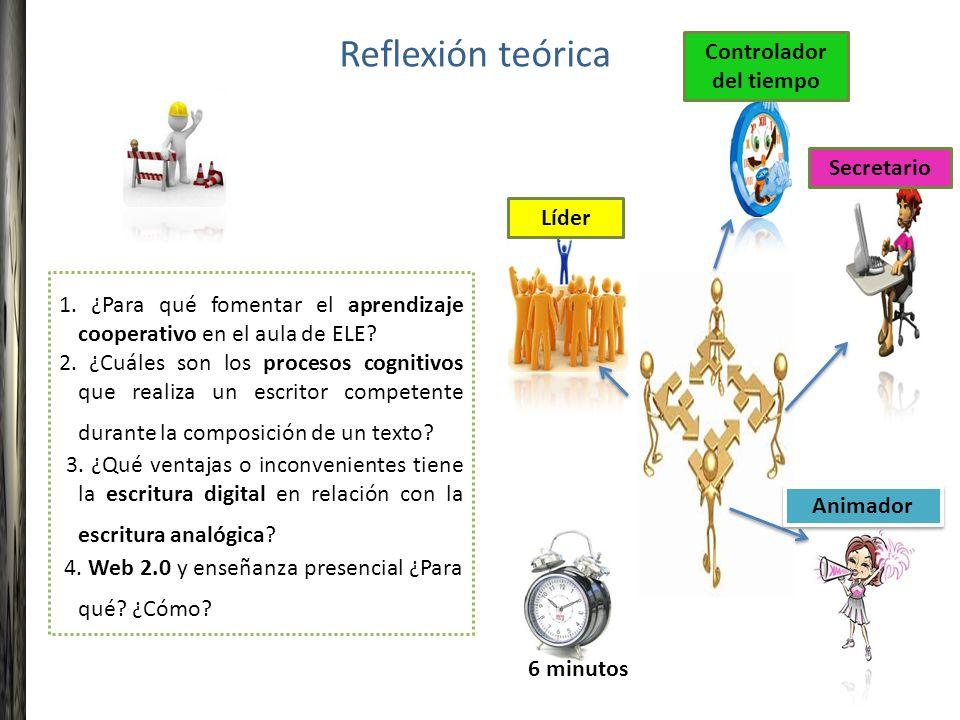 1. ¿Para qué fomentar el aprendizaje cooperativo en el aula de ELE? 2. ¿Cuáles son los procesos cognitivos que realiza un escritor competente durante