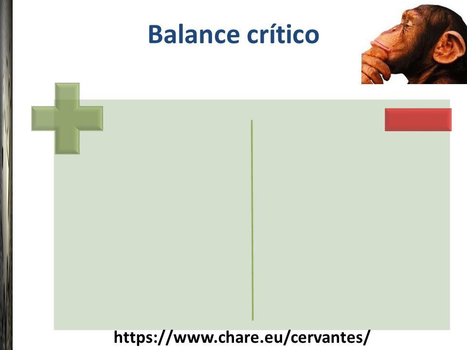 Balance crítico https://www.chare.eu/cervantes/