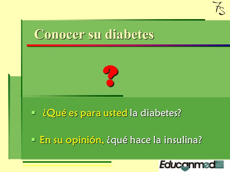 Mis siete secretos Segundo secreto Conocer su diabetes