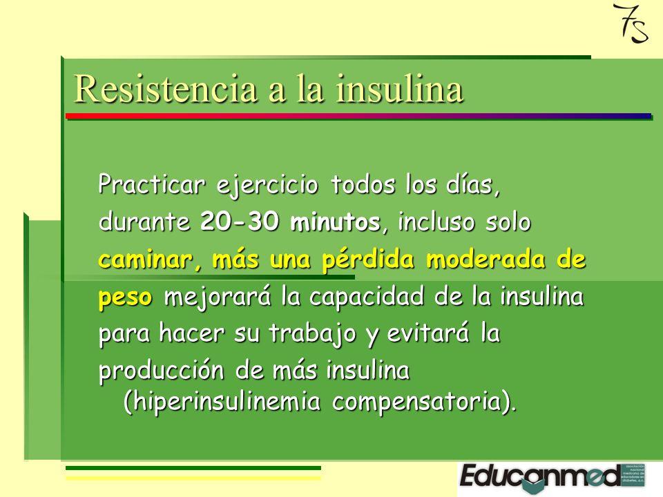 Y la célula beta debe fabricar más insulina para mantener la glucosa en límites normales.