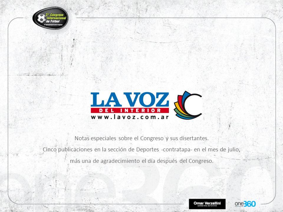 Notas especiales sobre el Congreso y sus disertantes.