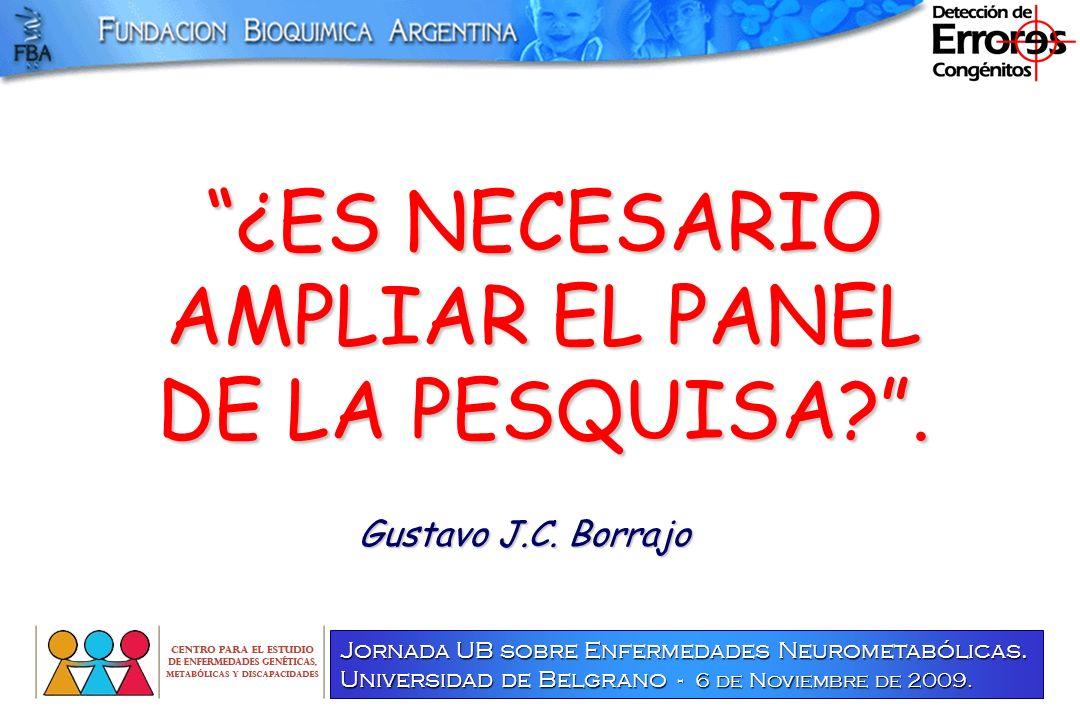 PESQUISA NEONATAL AMPLIACION DE LOS PANELES.AMPLIACION DE LOS PANELES.