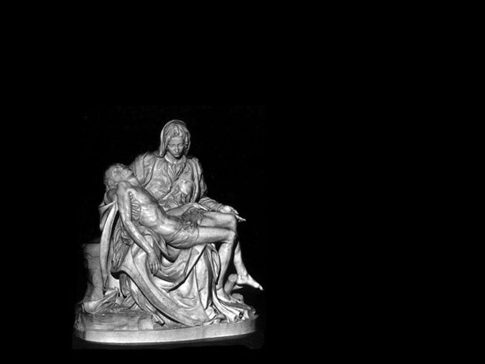 Pieta: del latin, significa amor místico, amor a Dios un amor tan profundo que ni la muerte puede destruir Las imágenes invitan a amar El Creador de todo el universo, nos ama tanto, que se hace tan frágil como un hombre… El cargó, y sigue cargando en cada Misa, la Cruz en reparación de nuestros pecados, pasados y futuros, para salvarnos.