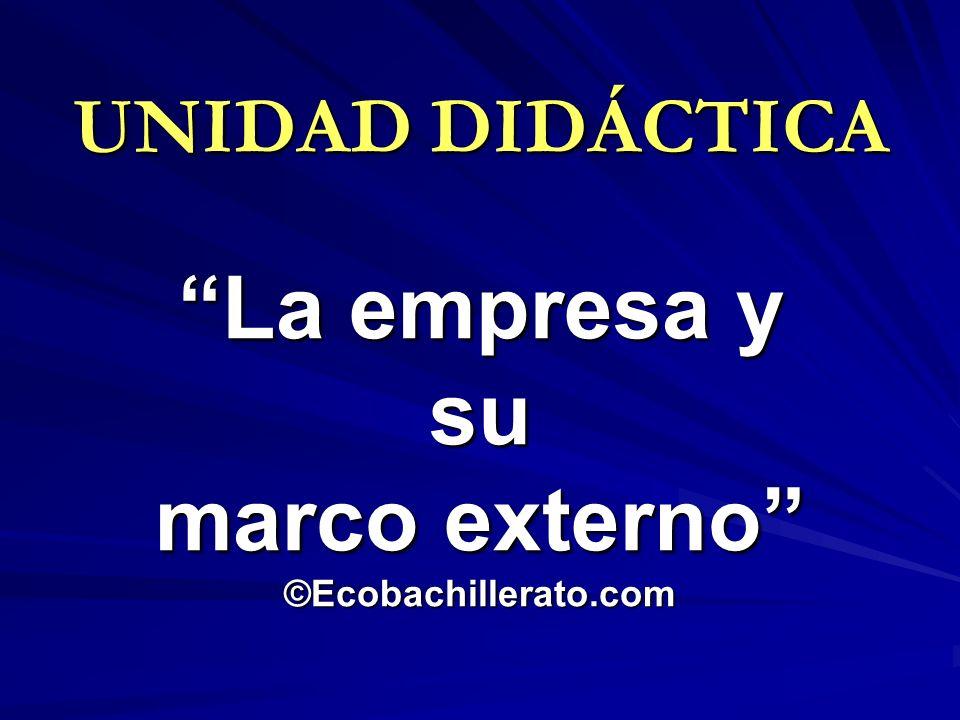 UNIDAD DIDÁCTICA La empresa y su marco externo ©Ecobachillerato.com