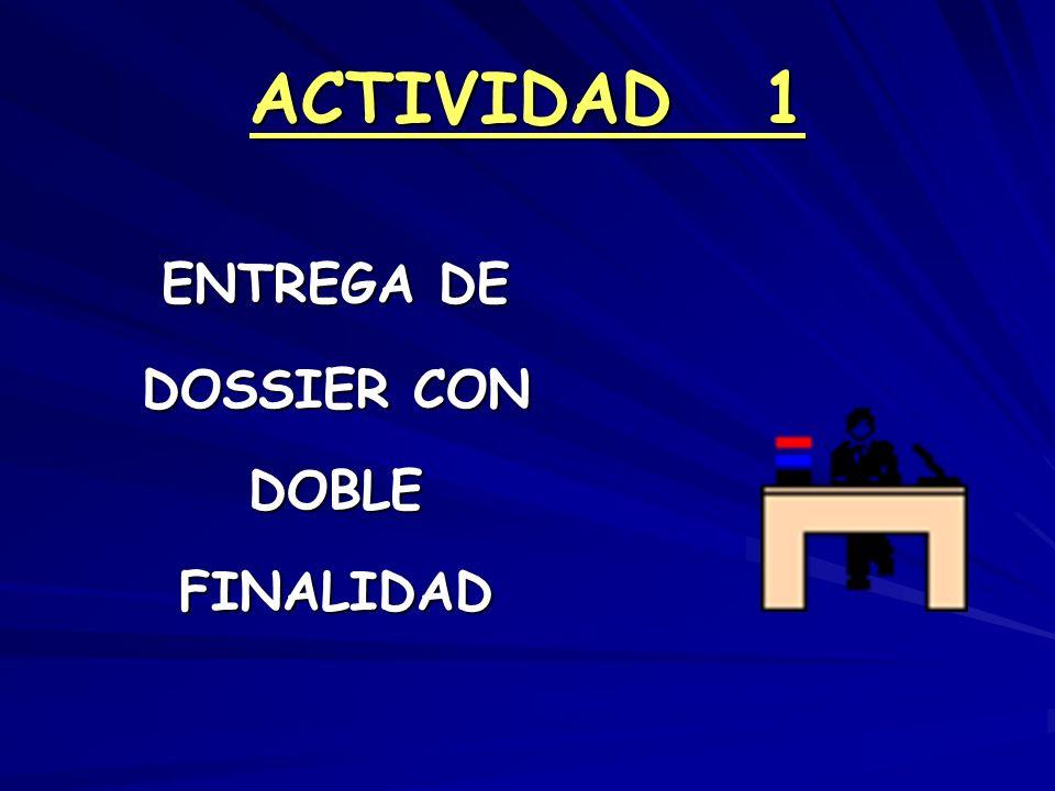 ACTIVIDAD 1 ENTREGA DE DOSSIER CON DOBLEFINALIDAD