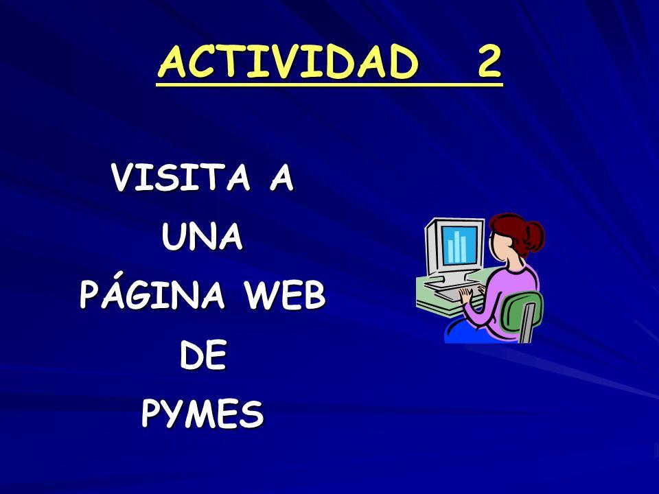 ACTIVIDAD 2 VISITA A UNA PÁGINA WEB DEPYMES