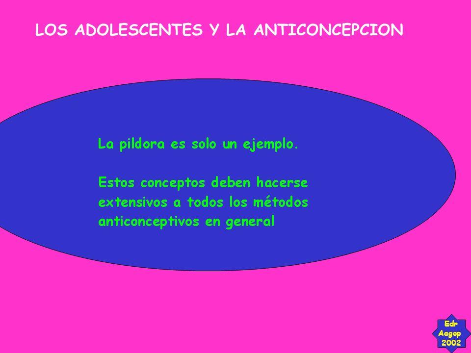 LOS ADOLESCENTES Y LA ANTICONCEPCION Edr Aagop 2002 Somos los adultos, entónces.