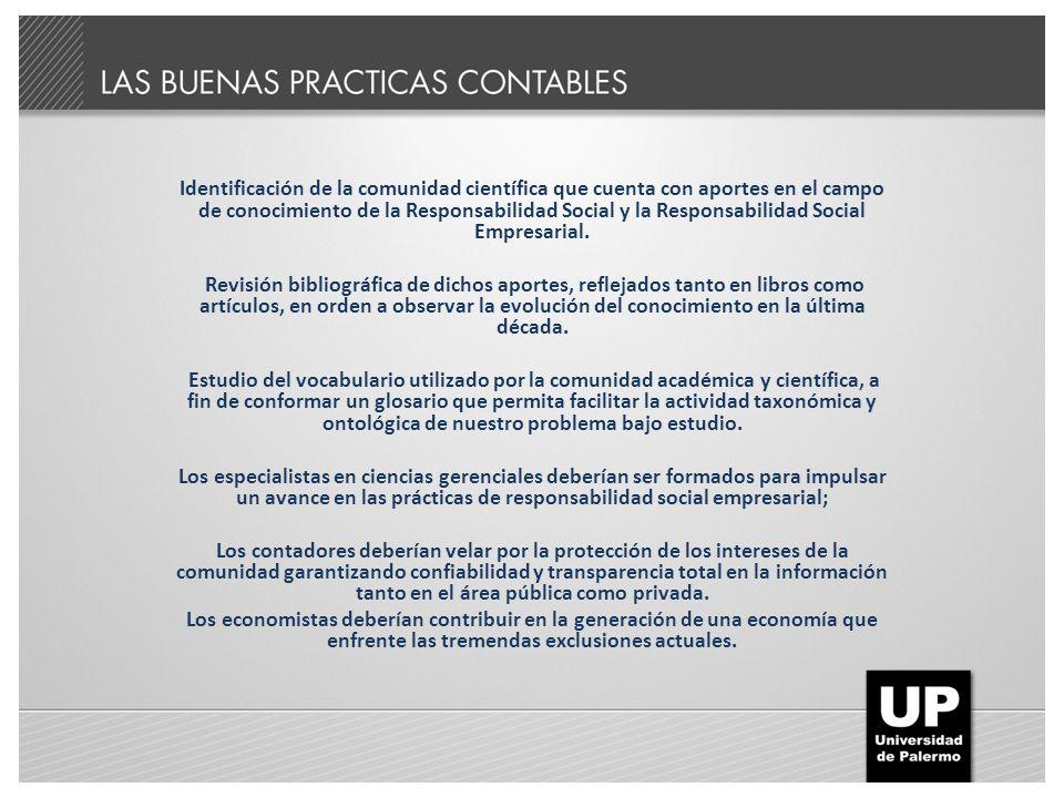 Identificación de la comunidad científica que cuenta con aportes en el campo de conocimiento de la Responsabilidad Social y la Responsabilidad Social
