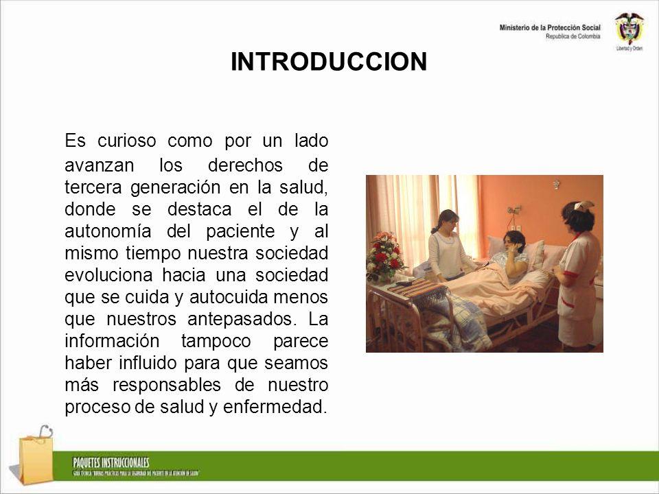 INTRODUCCION Es curioso como por un lado avanzan los derechos de tercera generación en la salud, donde se destaca el de la autonomía del paciente y al