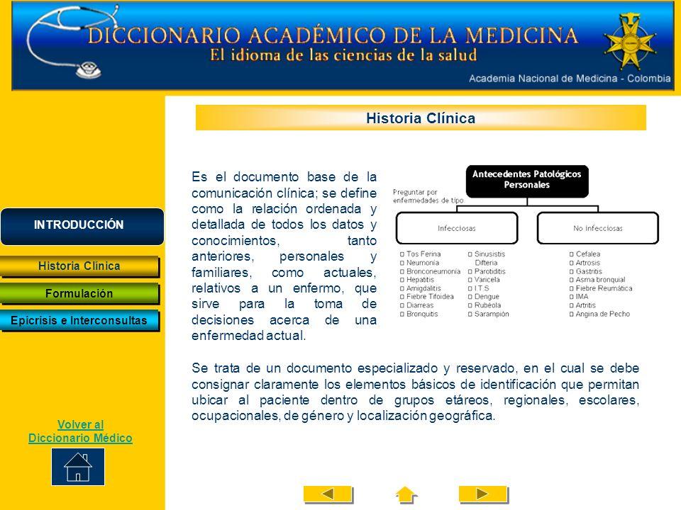 En la sección de motivo de consulta se expresa la razón que lleva al paciente a buscar ayuda; se acostumbra utilizar las palabras del paciente entre comillas.