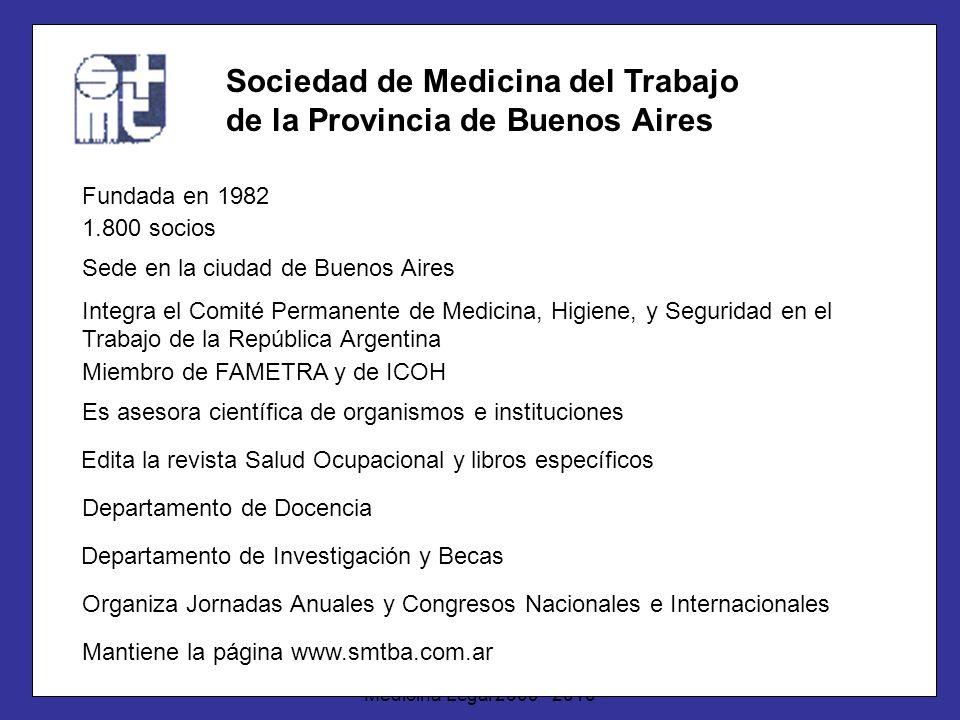 Dr. Gabriel ScarabottiUNC - ESSA - Especialización en Medicina Legal 2009 - 2010 Sociedad de Medicina del Trabajo de la Provincia de Buenos Aires Fund