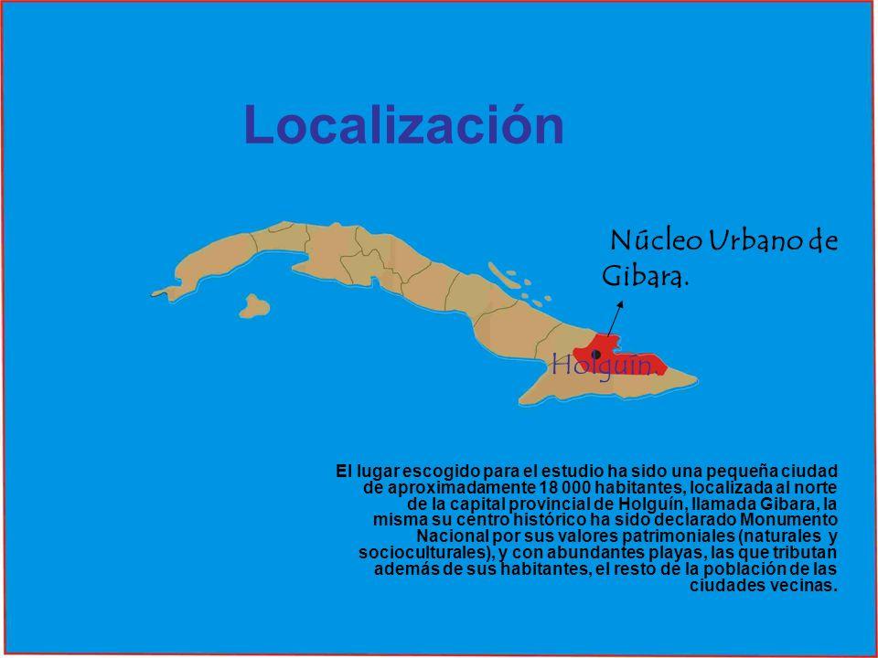 Localización El lugar escogido para el estudio ha sido una pequeña ciudad de aproximadamente 18 000 habitantes, localizada al norte de la capital prov