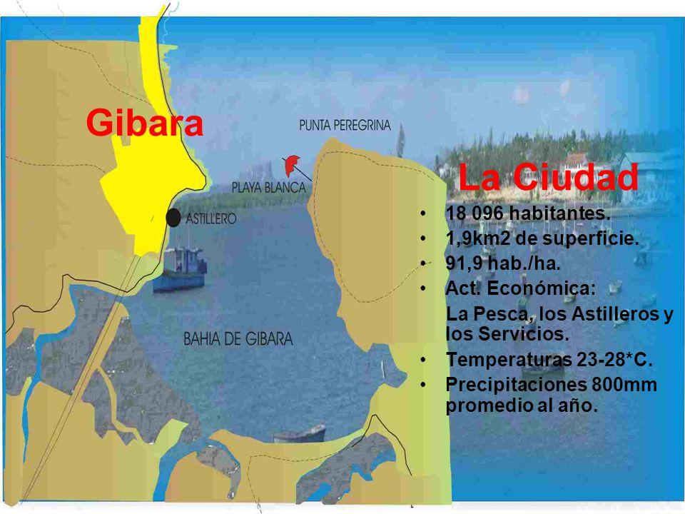 La Ciudad 18 096 habitantes. 1,9km2 de superficie. 91,9 hab./ha. Act. Económica: La Pesca, los Astilleros y los Servicios. Temperaturas 23-28*C. Preci
