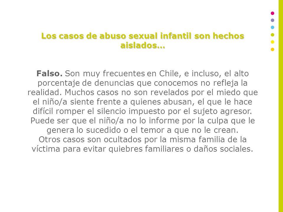 MITOS DEL ABUSO SEXUAL INFANTIL A continuación, se analizará una serie de mitos en torno al fenómeno del abuso sexual.