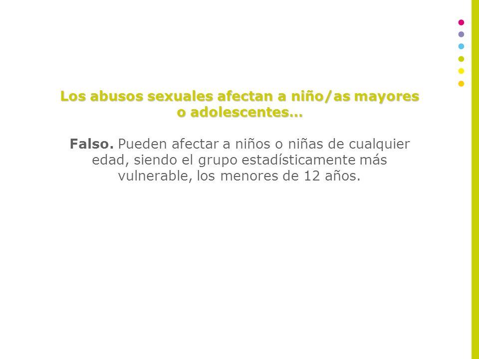 Los abusos sexuales afectan solo a las niñas… Falso.