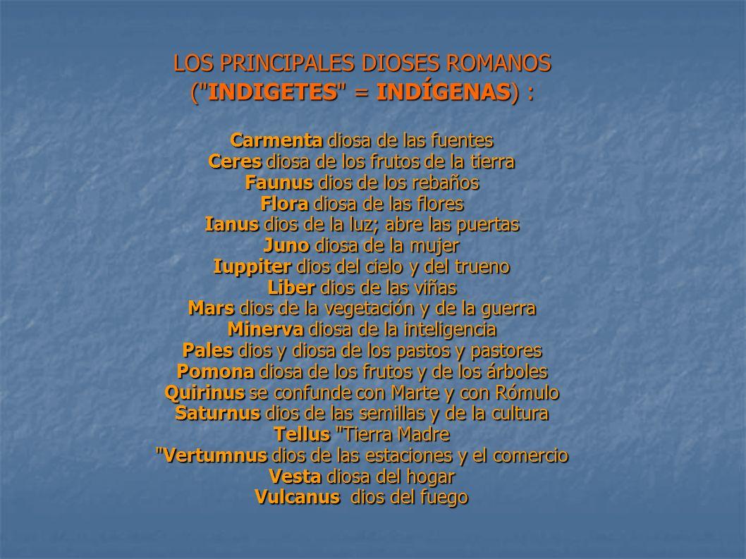 LOS PRINCIPALES DIOSES ROMANOS (