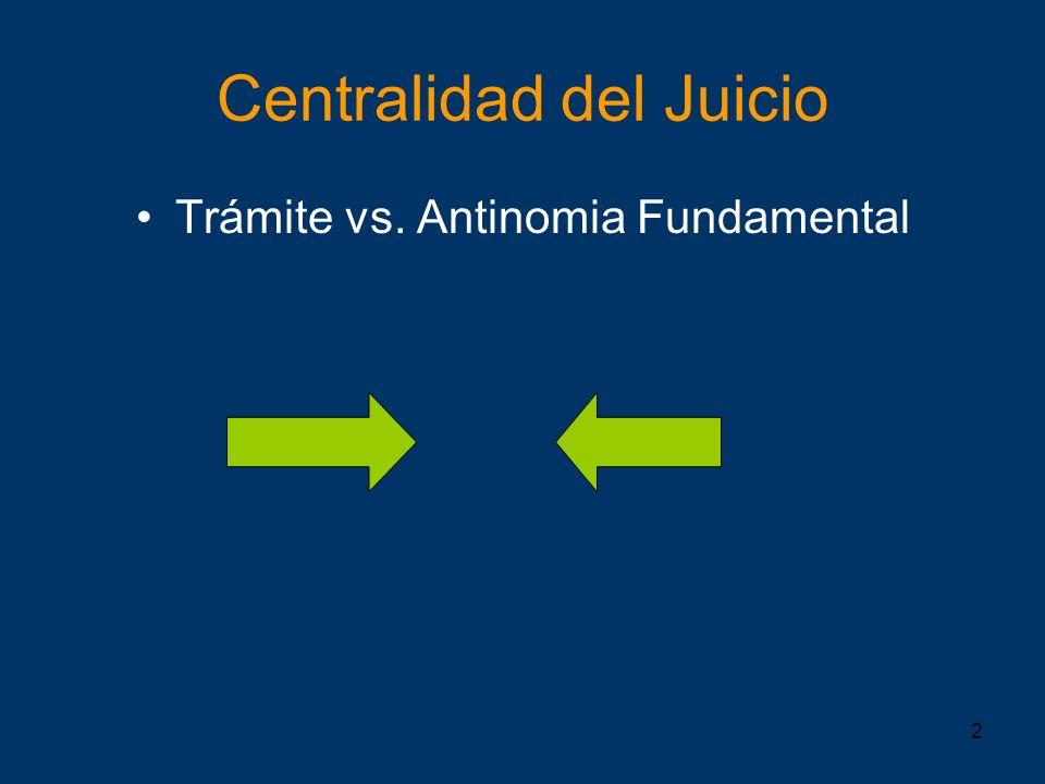 2 Centralidad del Juicio Trámite vs. Antinomia Fundamental