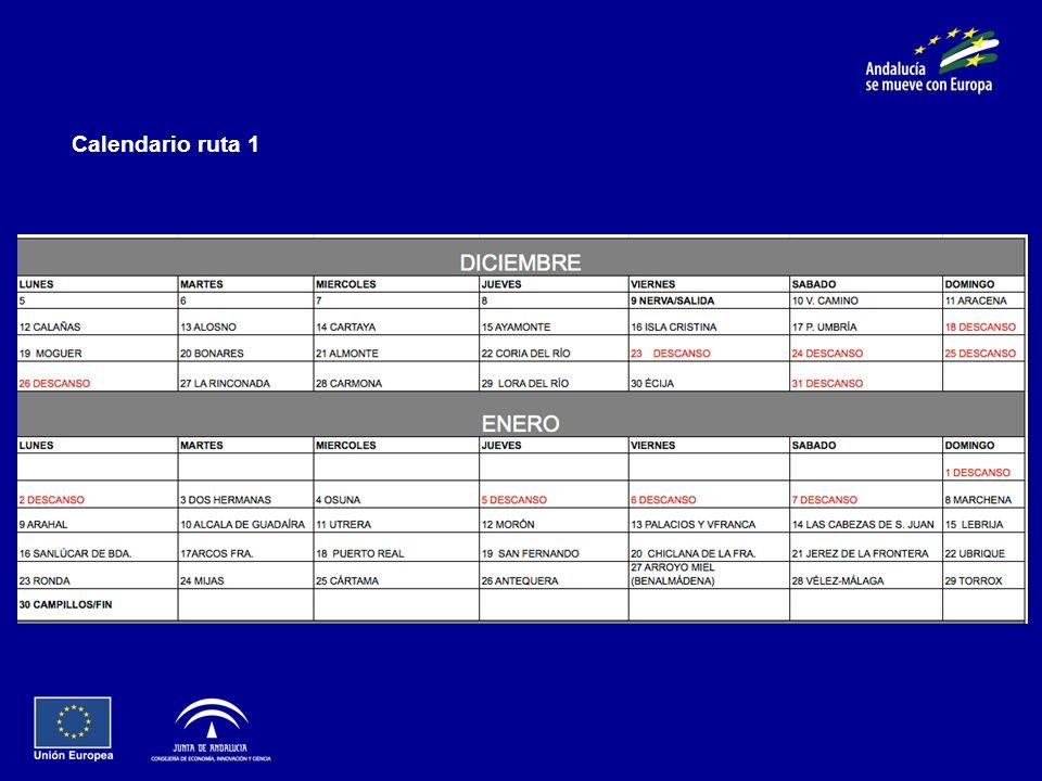Calendario ruta 1