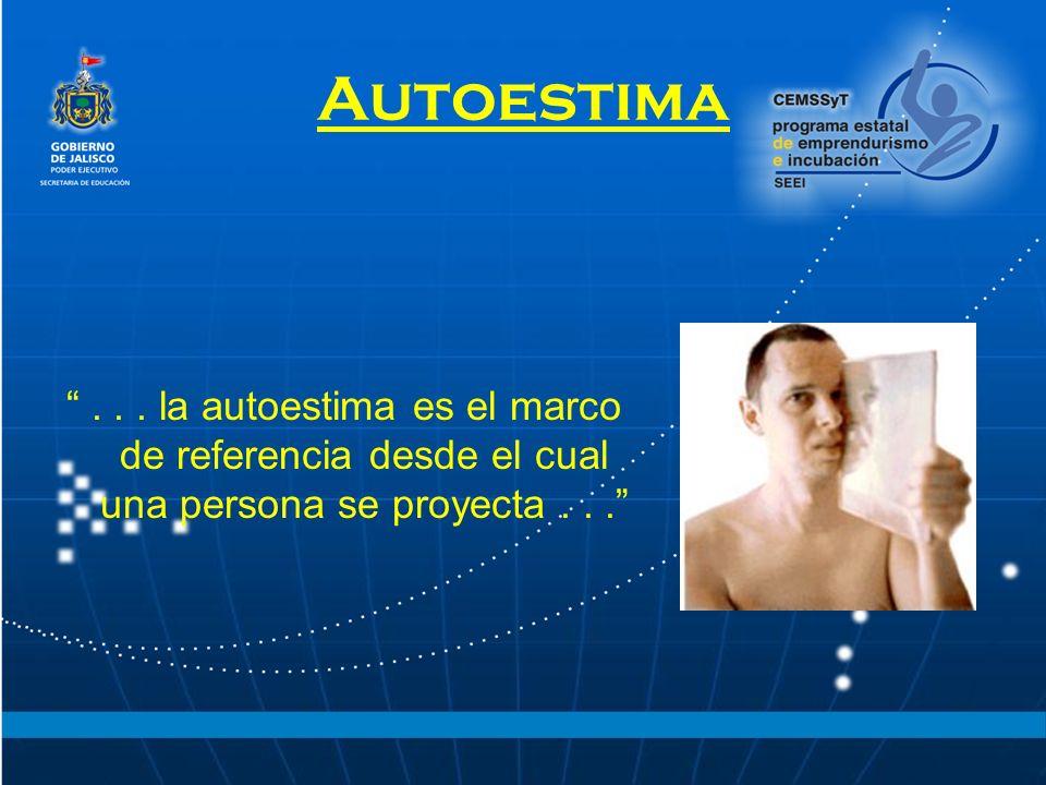 Autoestima... la autoestima es el marco de referencia desde el cual una persona se proyecta...
